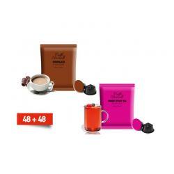 Κάψουλες Bernini Caffe Διπλής Γεύσης Σοκολάτας και Τσάι