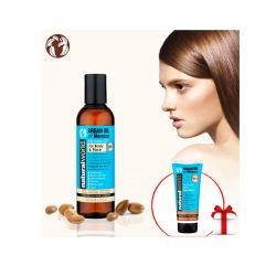 Λάδι Ανάπλασης για Σημάδια, Ουλές & Ραγάδες Argan Oil of Morocco Natural World, 200ml + Εντατική Μάσκα Μαλλιών με Argan Oil Natural World, 200ml