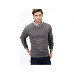 Γκρι Μπλούζα Pierre Cardin με Λαιμό V PC-Pullover Grey