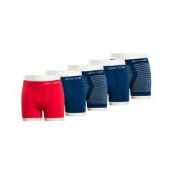Σετ 5 Boxers Pierre Cardin Χρώμα Κόκκινο PG-STRIPES-RED