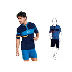 Ανδρική Καλοκαιρινή Πυτζάμα Sergio Tacchini Χρώματος Μπλε PG24447-AS1