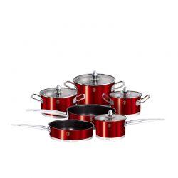 Σετ Μαγειρικών Σκευών Berlinger Haus 10 τμχ Χρώματος Κόκκινο BH-1321