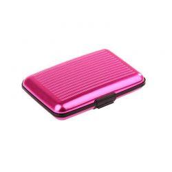Ανθεκτικό πορτοφόλι αλουμινίου με RFID προστασία ασφαλείας χρώματος ροζ