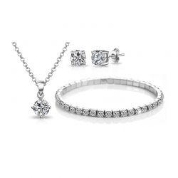 Σετ Κοσμήματα Philip Jones με Κρύσταλλα Swarovski® 3τμχ.