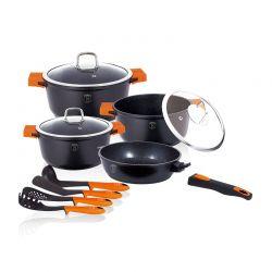Σετ Μαγειρικών Σκευών Berlinger Haus 11 τμχ Χρώματος Μαύρο BH-1120