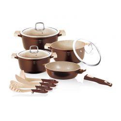 Σετ Μαγειρικών Σκευών Berlinger Haus 11 τμχ Χρώματος Copper BH-1122