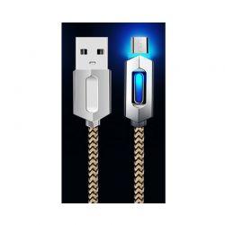 Καλώδιο USB to Micro USB 1m με Φως Led για Συσκευές Android R142001