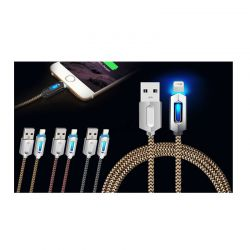 Καλώδιο USB to Lightning 1m με Φως Led για Συσκευές Apple R141998