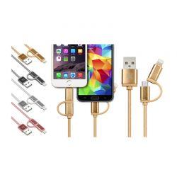 Καλώδιο USB to Lightning ή Micro USB 2 σε 1 για iOS & Android R13689