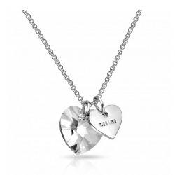 Κολιέ Philip Jones με Κρεμαστό σε Σχήμα Καρδιάς Διακοσμημένο με Κρύσταλλα Swarovski®