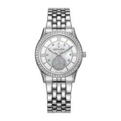Γυναικείο Ρολόι Χρώματος Γκρι με Μεταλλικό Μπρασελέ και Κρύσταλλα Swarovski® Timothy Stone H-013-ALSL