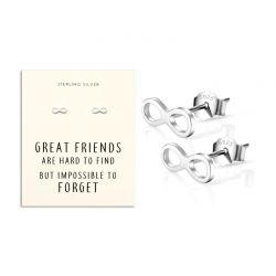 Σκουλαρίκια Infinity από Ασήμι 925 Philip Jones