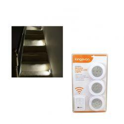 Ασύρματες LED Λάμπες 3 τμχ. Kingavon BB-RT210