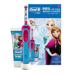 Ηλεκτρική Οδοντόβουρτσα Oral-b για Παιδιά Disney Frozen με Δώρο Οδοντόκρεμα Pro-Expert Stages OLB-FRZVIT-BRS