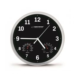 Ρολόι Τοίχου Esperanza Χρώματος Μαύρο EHC016K