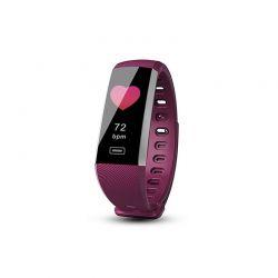 Ρολόι Fitness Tracker Aquarius AQ116 με Μετρητή Καρδιακών Παλμών και Αρτηριακής Πίεσης Χρώματος Μωβ R161627